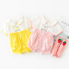 Baby Girl Rompers New Summer Cute Newborn Girls Clothes Sweet Cherry Jumpsuits Infants Baby Rompers Clothing newborn winter baby rompers girls windproof rompers children warm outdoor rompers kids jumpsuits