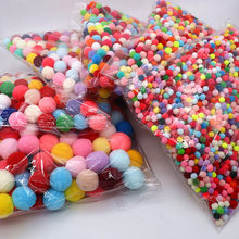20grams Colorful Soft Flannel Fluffy Pompom Polypropylene Crafts Children's Toys DIY Home Decoration Sewing Supplies Accessories