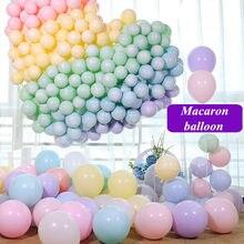 10/100 pçs 10 polegada 2.2g macaron látex matte balões diy feliz aniversário festa de casamento natal decoração do dia das crianças balão