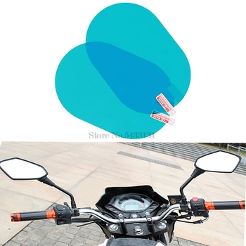 Motorcycle mirror side accessories waterproof anti rain film for Cb500X Cafe Racer Mirror Bmw C600 Sport Suzuki Intruder image