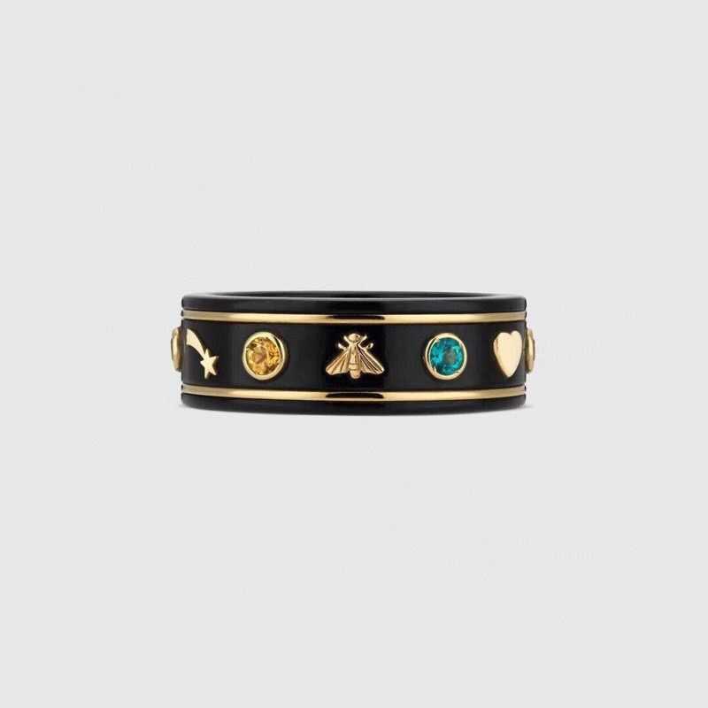 Desain Baru Merek Pesta Perhiasan Mewah Merek Nama Cincin Bintang Lebah Tanaman Kristal Hati Charms Vintage Wedding Ring Wanita Pria Rings Warecart