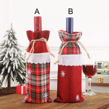 Christmas Wine Bag Machine Embroidered Wine Bottle Set Table Decoration Supplies Christmas Pendant Drop Ornaments 2020 dropship(China)