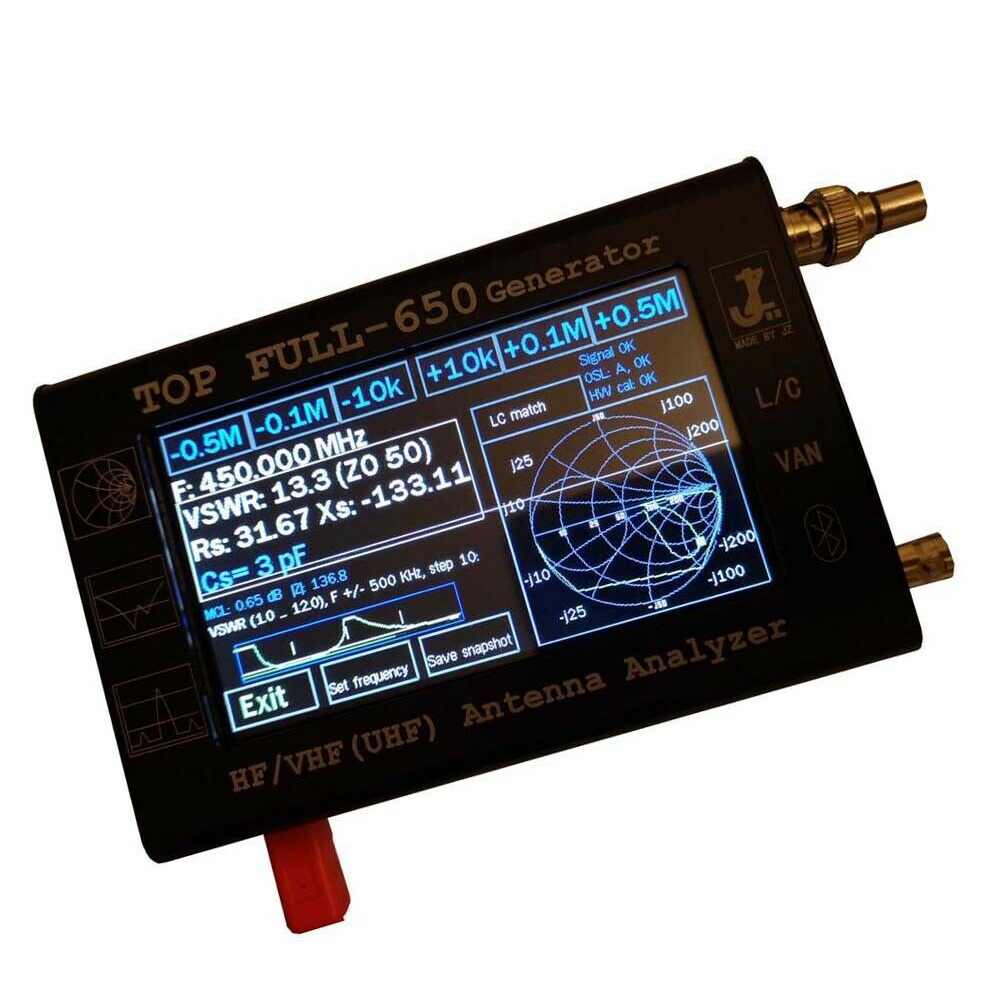 4.3 Inch Contact Screen HF/VHF/UHF LCD 0.1-1300MHz 1.3GHz ANT SWR Vector Antenna Analyzer Meter