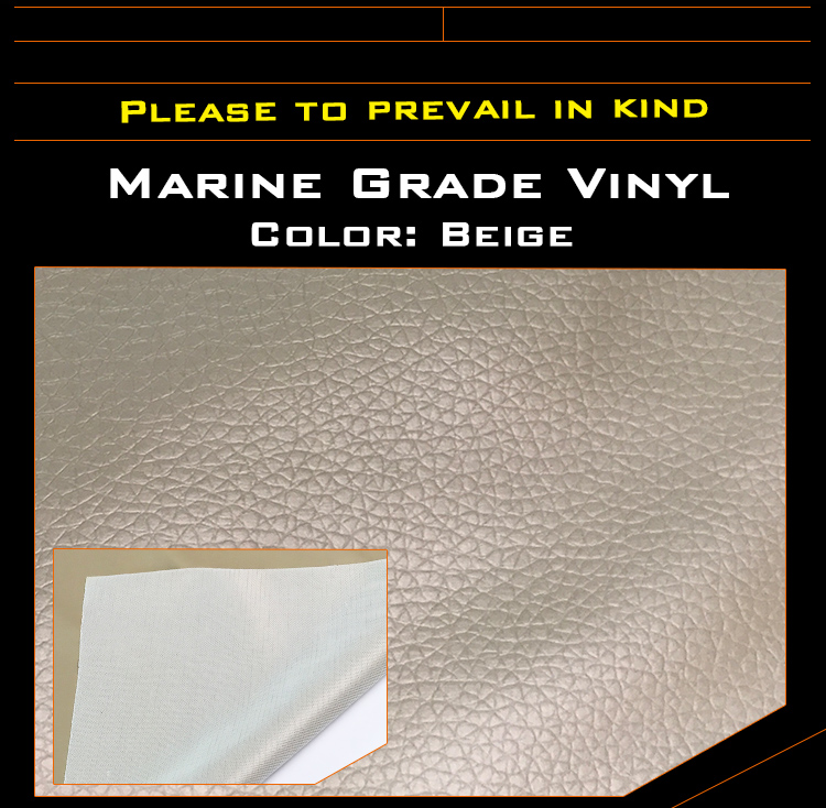 ëPromoteFabric-Boat Car-Upholstery Vinyl Synthetic-Leather Auto 2pcs 540cm Replace Marine Beige