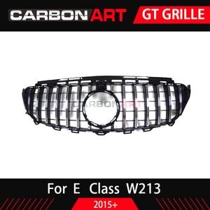 Image 5 - W213 GT GrilleสำหรับMb W213 ด้านหน้ากันชนGT Grill Fit E CLASS W213 C238 E200 E250 E300 E320 E350 2016 2018 Front Grille