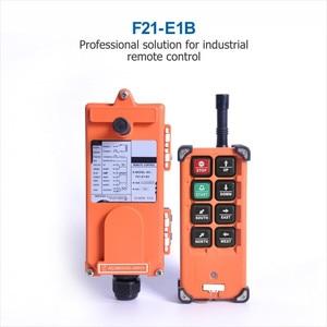 Image 3 - La velocità senza fili industriale f21 e1b 8 abbottona il telecomando F21 E1B della gru (1 trasmettitore + 1 ricevitore) per la gru