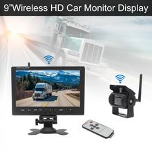 9 Inch Wireless Rear View Camera System TFT LCD Monitor Night Vision Camera for Bus Truck Boat Security Surveillance System