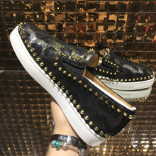 2019 Super Quality Gift Shoe Sneakers Shoes Orlato Flats Low help Red Bottom Spikes Designer Men Women Casual With Box