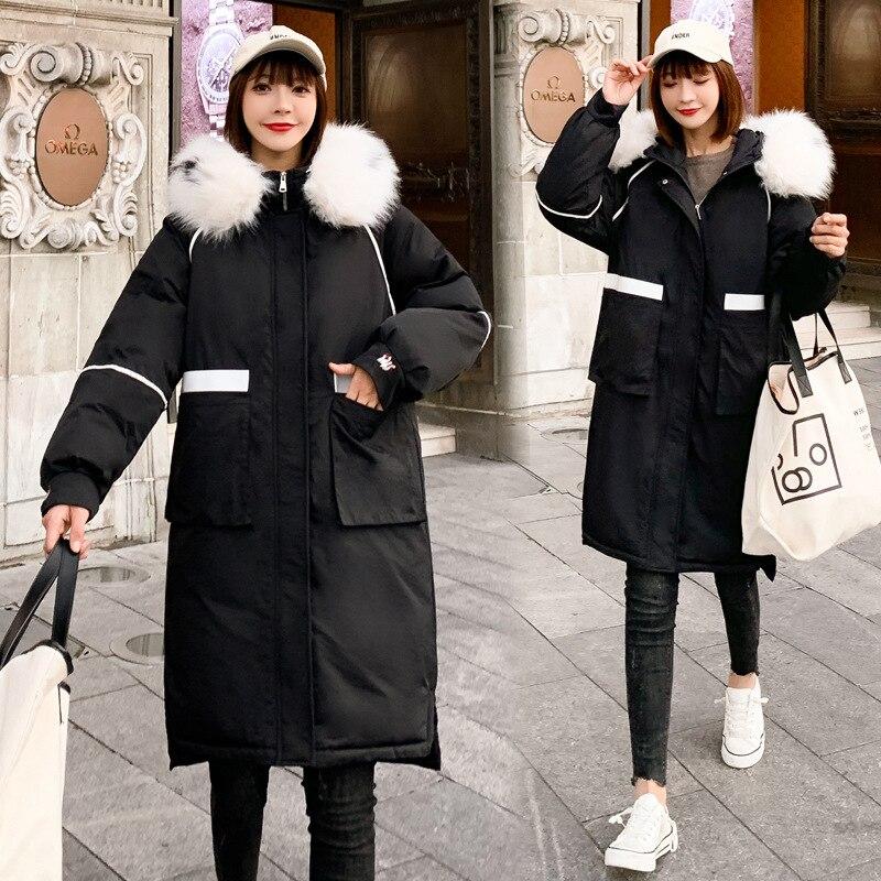 Fabricants vente directe fourrure col coton manteau femmes mi-longueur 2019 nouveau Style vers le bas plume vêtements rembourrés de coton INS Coa