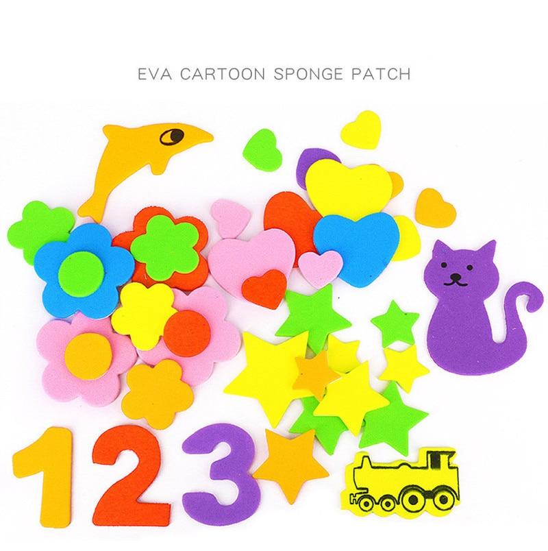 Figure géométrique autocollant en mousse étoile coeur animaux mousse autocollants enfant jouet début éducatif apprentissage maternelle artisanat bricolage jouet GYH