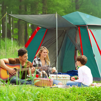 4 person family camping tent outdoor ultralight waterproof large camping tents tente 3-4 Person Automatic Tents Waterproof Camping Hiking Tent Outdoor Large Family Tent Portable Anti-UV Multi-purpose Tent KEOGHS