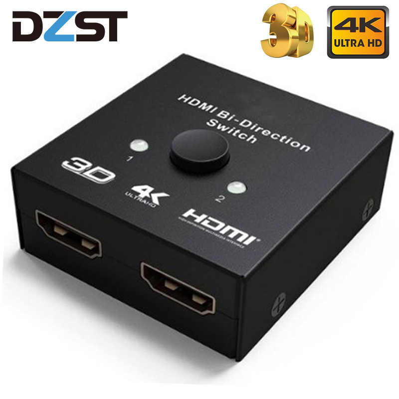 DZLST HDMI répartiteur 4K Ultra HD HDMI commutateur bi-direction 1x 2/2x1 adaptateur HDMI commutateur 2 en 1 pour PS4/3 TV Box HDMI commutateur