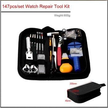 цена на 147pcs/set High quality Watch Repair Tool Kit Watch Case Opener Link Remover Screwdriver Repair Tools Kit Watchmaker Tools