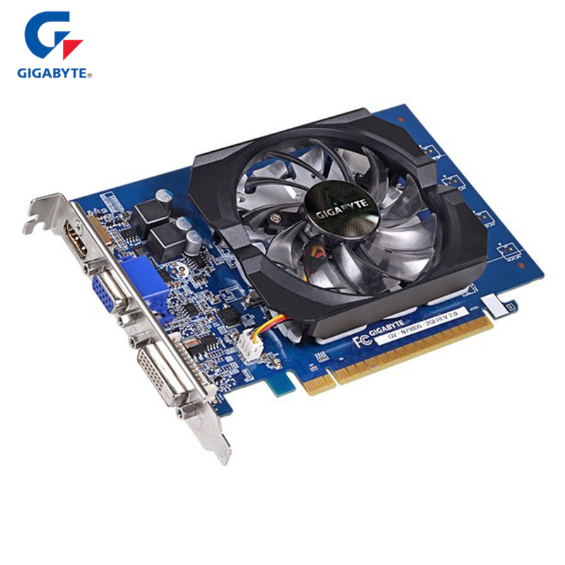 GIGABYTE GT730 2GB Nvidia Graphics Cards 64Bit GDDR5 Gaming Video Card For NVIDIA Geforce GT 730 HDMI DVI PC Used Cards