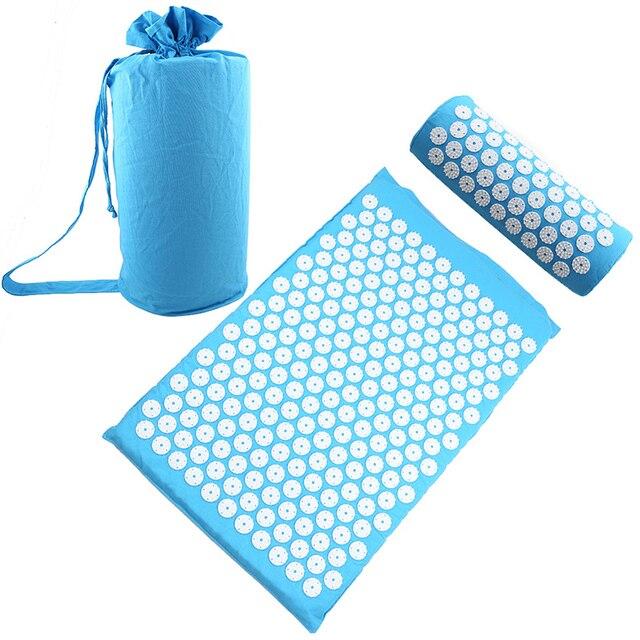 Relieve Stress Pain Yoga Massager Mat Natural Relief Stress Tension Body Massage Pillow Cushion Acupressure Mat 1