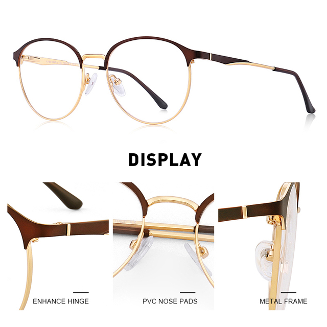 Myopia Anti Blue Ray Round Eye Glasses