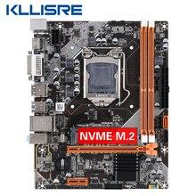 Kllisre B75 Desktop Moederbord M.2 LGA1155 Voor I3 I5 I7 Cpu Ondersteuning Ddr3 Geheugen