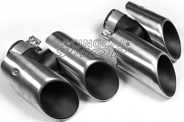 Stainless Steel Exhaust Pipe Dual Muffler 4Tips A Pair for Porsche Macan 2014UP T055W 3