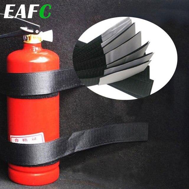 4 pçs/set Saco De Armazenamento Organizador Mala Do Carro Extintor de Incêndio Montagem Cintas Fitas de Fixação Suporte Adesivos Tiras Bandagem