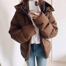 Cotton Padded Jacket Tops Warm Winter Regular Women Parka Overcoats Thick Coats