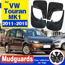 Set Car Mud Flaps For VW Touran 2011 - 2015 Mudflaps Splash Guards Mud Flap Mudguards Fender Front Rear Styling 2012 2013 2014 4pcs mud flaps for dfm dongfeng succe 2010 2011 2012 2013 2014 2015 mudflaps mudflap splash guards fender mudguards front rear