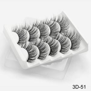 Image 5 - SEXYSHEEP 5Pairs 3D Mink Lashes False Eyelashes Natural/Thick Long Eye Lashes Wispy Makeup Beauty Extension Tools