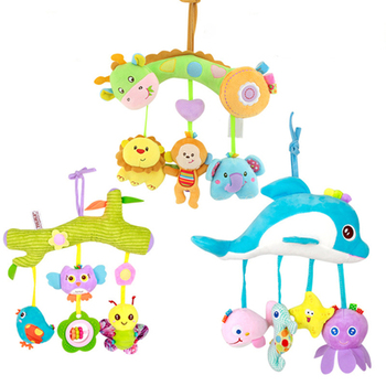 Rattles For Kids Baby Toys 0 6 12 24 Months Mobile On The Bed Educational Toys 0 Newborn Infant Hanging Stroller Animals Dolphin