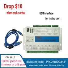 USB 2MHz Mach4 CNC 모션 제어 카드 3 4 6 축 조각 기계 우드 라우터 브레이크 아웃 보드 MK3 MK4 MK6 컨트롤러