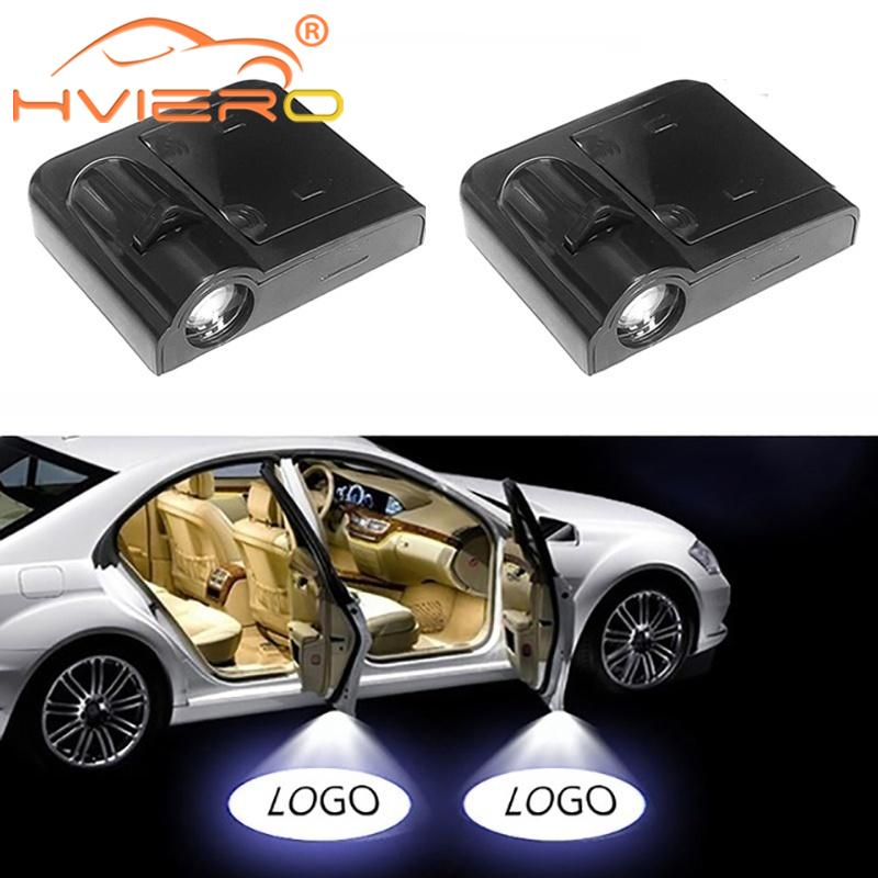 2X Car Door Logo Light Welcome Lamp Laser Light DC 5V Universal Wireless Projector Light Atmosphere Car Light Car Accessories