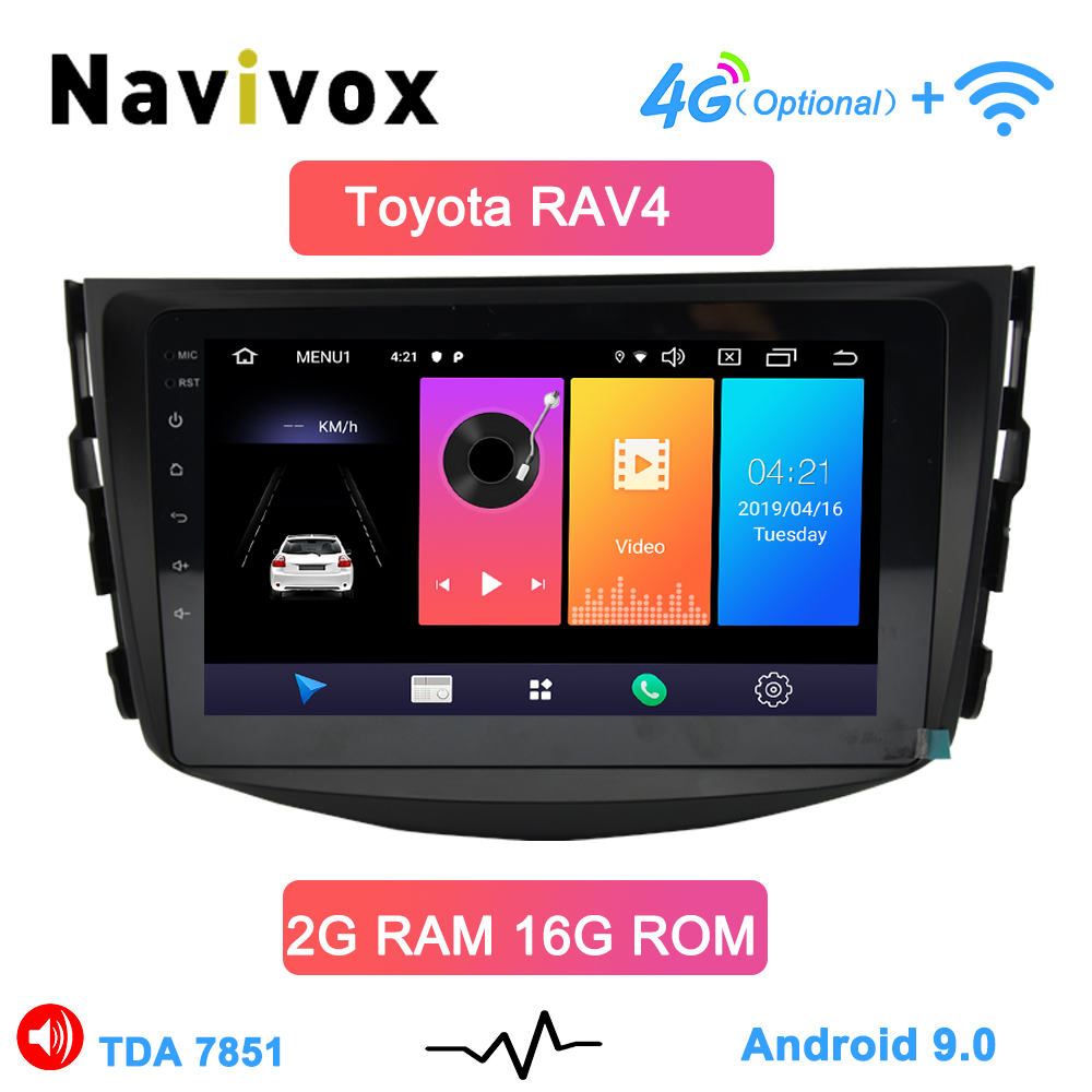 Navivox Android 8.1 car dvd player for Toyota RAV4 <font><b>Rav</b></font> <font><b>4</b></font> 2007 2008 2009 2010 <font><b>2011</b></font> 2 din 1024*600 car dvd gps wifi rds image