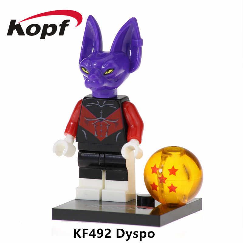 Única venda ação blocos de construção montar série dragon ball figuras preto goku rosa brinquedos educação para crianças presente kf526