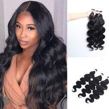 Hair Extensions Human Hair Body Wave I Tip Microlinks Brazilian Remy Hair Bulk 100% Human Hair Natural Black Color For Women