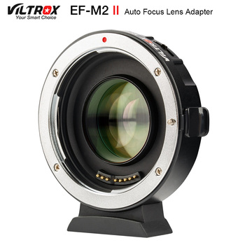 Viltrox EF-M2 II Focal Reducer Booster Adapter Auto-focus 0.71x for Canon EF mount lens to M43 camera GH5 GH4 GF7GK GX7 E-M5