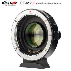 Image 1 - Viltrox EF M2 II Focal Reducer Booster Adapter Auto fokus 0,71 x für Canon EF mount objektiv M43 kamera GH5 GH4 GF7GK GX7 E M5 II