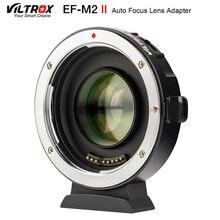 Viltrox EF M2 II Focal Reducer Boosterอะแดปเตอร์Auto Focus 0.71xสำหรับCanon EFเลนส์M43 กล้องGH5 GH4 GF7GK GX7 E M5 II
