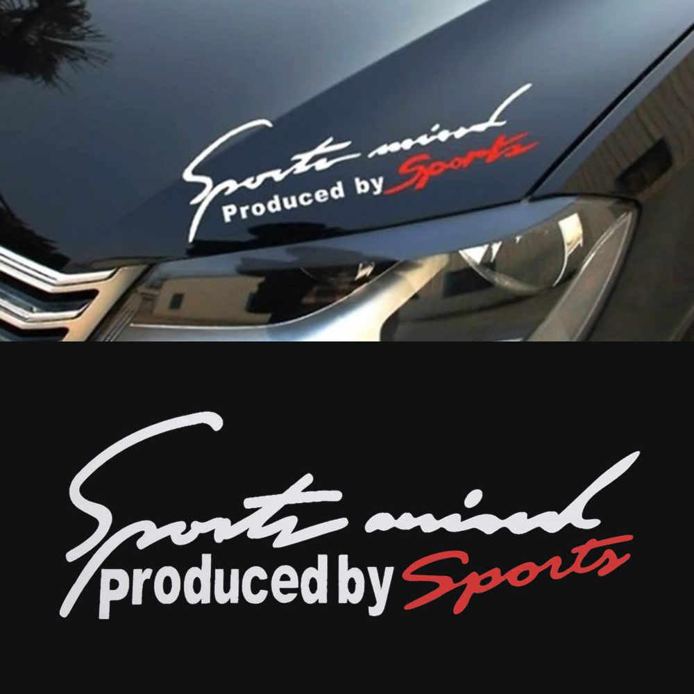 กีฬาจดหมายสติกเกอร์รถป้ายสัญลักษณ์รถยนต์ Bonnet สติกเกอร์รถสำหรับ Audi BMW Benz VW กีฬา AMG
