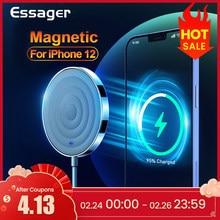 Essager 15w qi magnético carregador sem fio para iphone 12 pro max mini indução magia rápida magsafing sem fio almofada de carregamento adaptador
