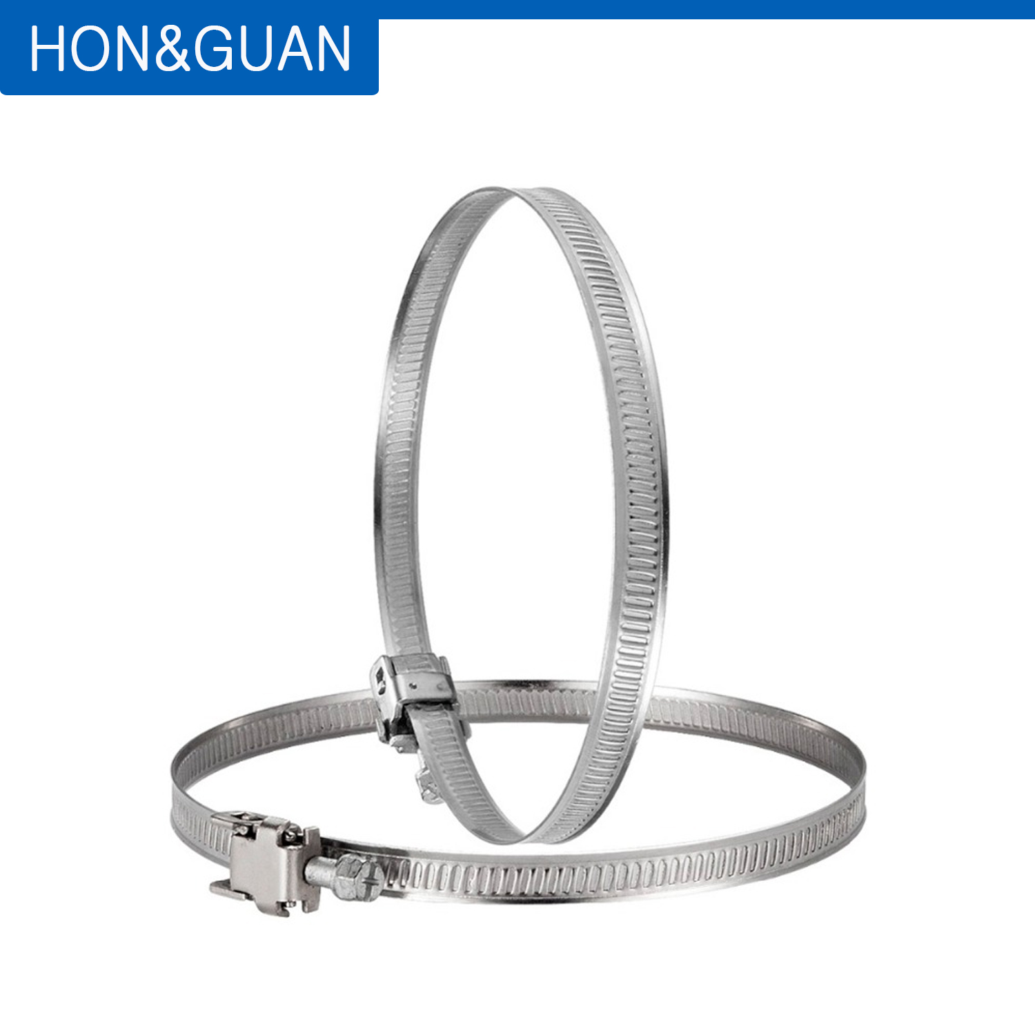 2pcs 4inch <font><b>100mm</b></font> Stainless Steel Hose Clamps Hose Clips <font><b>Duct</b></font> Clamp image