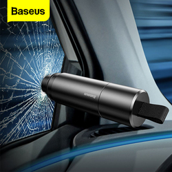 Автомобильный молоток Baseus для защиты окон и стекол, автоматический режущий нож для ремня безопасности, компактный спасательный молоток, ав...
