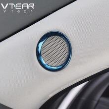 Pour Mazda CX-5 CX5 2020 2019 2018 haut-parleur son anneau revêtement d'habillage en acier inoxydable décoration intérieur moulures accessoires