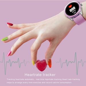 Image 4 - Fashion Women Smart Watch Waterproof Heart Rate Blood Pressure Monitor Smartwatch Gift For Ladies Watch Bracelet Full Touch