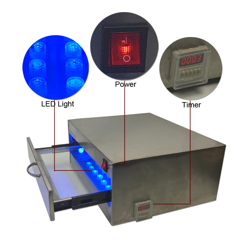 118W UV Lamp curing box machine 84 LED Lights Drawer Type Lamp Repair Tool