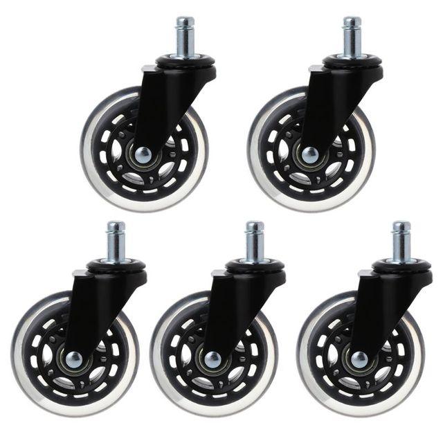 Ruedas de oficina giratorias de goma, 5 uds., 11x22mm, reemplazos de ruedas rodantes seguros para muebles del hogar, Jun14