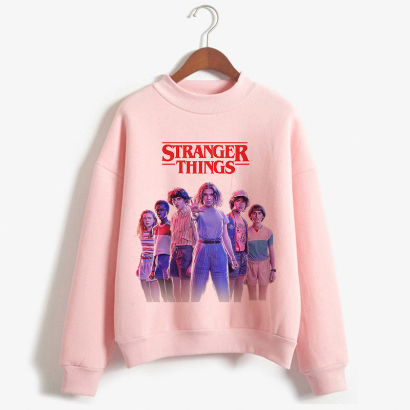 New Stranger Things Season 3 Harajuku Hoodies Women Ullzang Upside Down Print Sweatshirt 90s Funny Cartoon Graphic Hoody Female