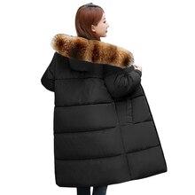 Женский пуховик из натурального меха енота, большие размеры 7XL, зимняя куртка, женская утепленная зимняя куртка с капюшоном, Женская свободная теплая длинная парка