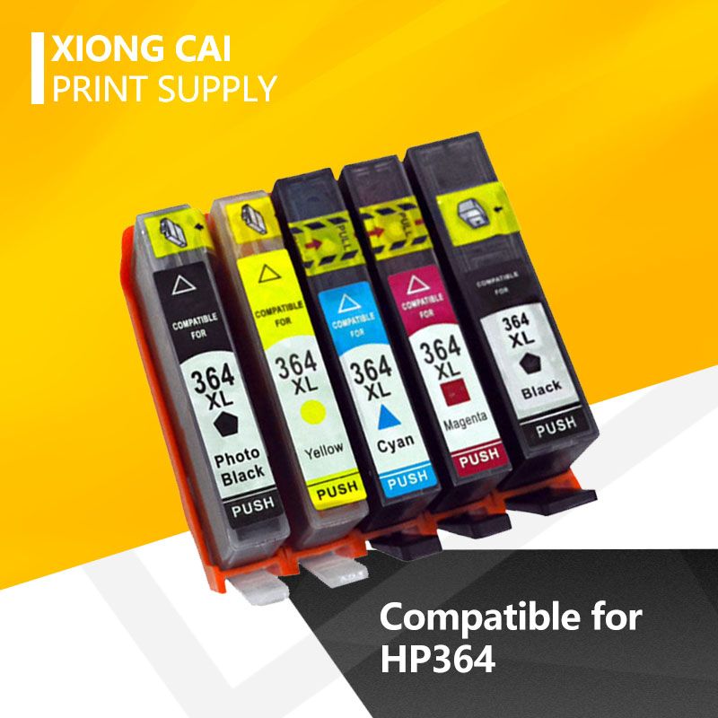 For HP364 Compatible Ink Cartridges <font><b>364</b></font> <font><b>364</b></font> 364XL for <font><b>HP</b></font> Photosmart 5520 6510 6520 7510 B109 B110 B209 C310 C410 FREE SHIPPING image