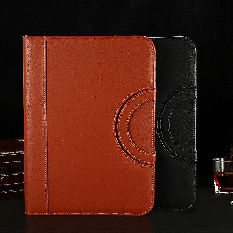 A4 Fichario Binder Document File Folder Ring Cabinet Case Manager Padfolio Business Organizer Holder Zipper Office Briefcase Bag