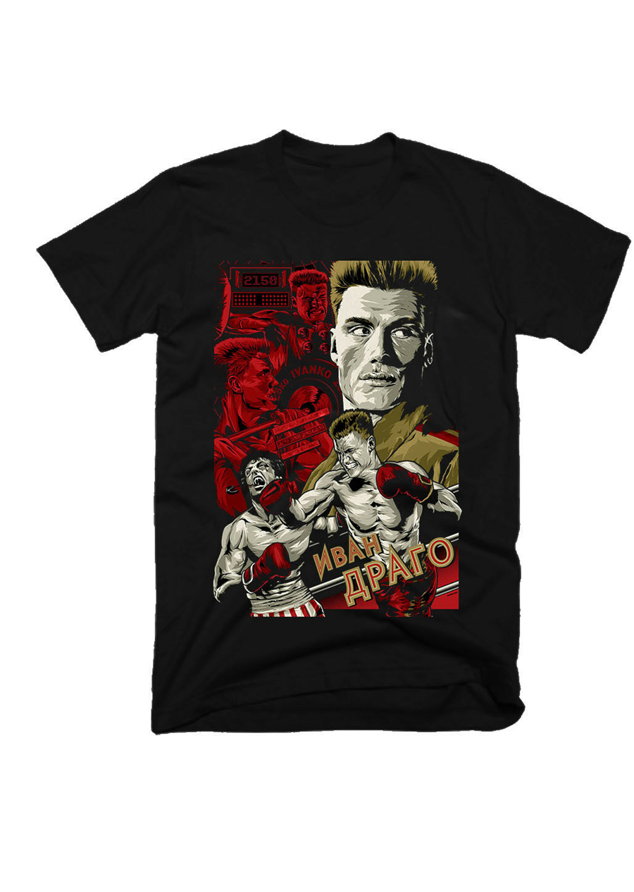 Ivan Drago,Rocky, Movie , Cotton,Men'S T-Shirt E0878 Gyms Fitness T-Shirt