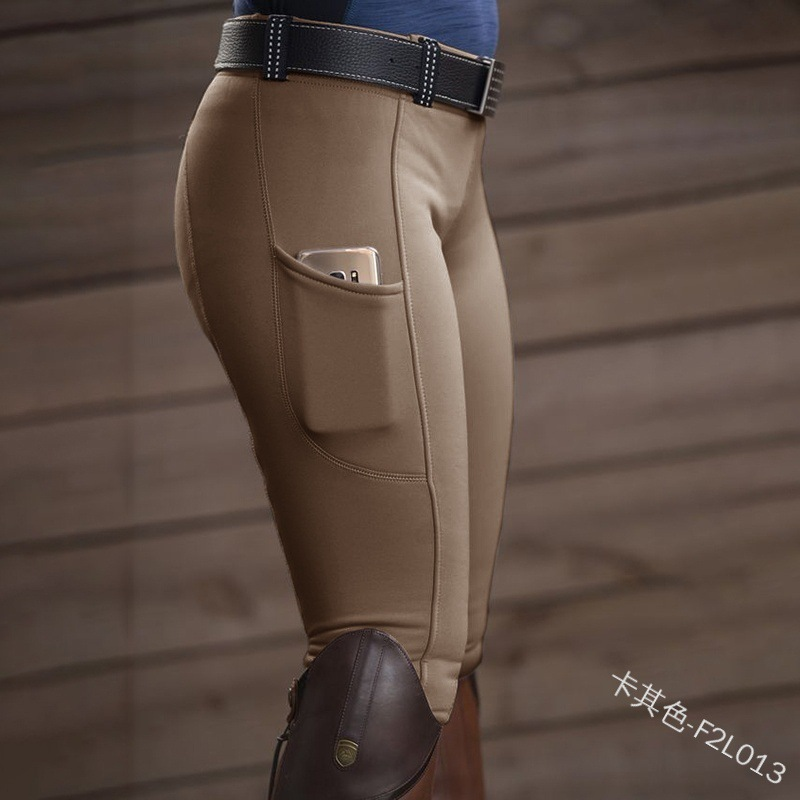 5XL Women Riding Horse Pants Breeches Stretch Leggings Slim Pencil Pants Equestrian Chaps Pants Horse Rider's Pants For Lady2020