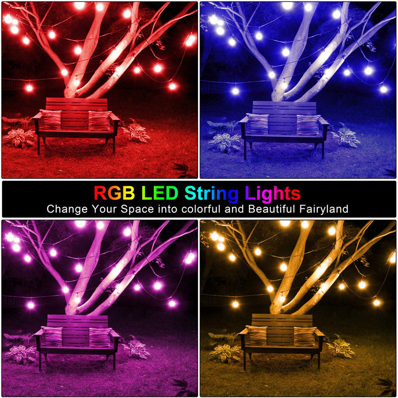 Image 5 - Waterproof Heavy Duty Outdoor RGB LED String lights Connectable Festoon for Party Garden Christmas Holiday Garland Cafe-in Lighting Strings from Lights & Lighting